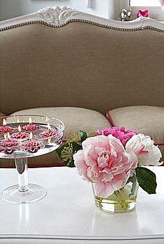 Peonies, simple flower arrangement