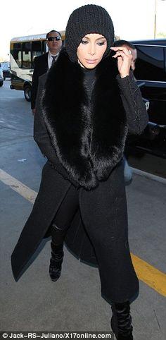 Kim Kardashian bids fur-well to LA as she jets to Paris to join Kanye #dailymail