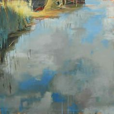 still water reflection (meridian series) ~ oil on canvas ~ by karen z. haynes