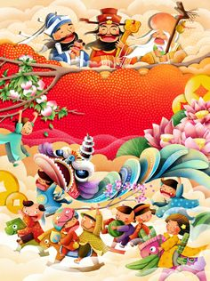 THE TET HOLIDAY by Khanh Tran, via Behance