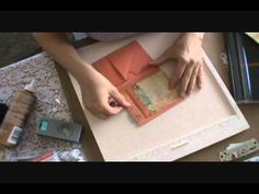 Mini Album Flip Page Tutorial. She has a number of videos for small albums made with folded scrapbook papers.