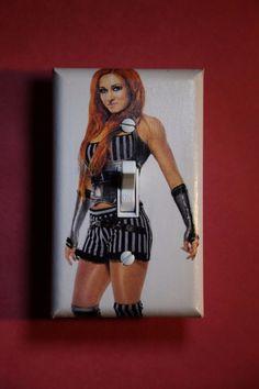 WWE Becky Lynch Light Switch Cover Wrestling boys girls bedroom room decor Diva