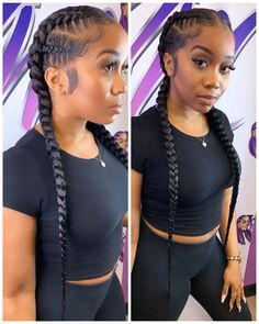 53 Box Braids Hairstyles That Rock - Hairstyles Trends Box Braids Hairstyles, Fishtail Braid Hairstyles, Protective Hairstyles, Braided Hairstyles For Black Women, Braids For Black Hair, Quick Braided Hairstyles, Braids For Kids, Girls Braids, 2 Feed In Braids