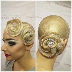 Прекрасный и нежный образ для нашей постоянной клиентки @leraa_leraa_ . Женственный и в то же время яркий макияж с необыкновенно красивой причёской)