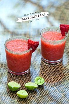 Strawberry Key Lime Margaritas