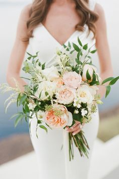 "From the editorial ""Allow This Gorgeous Santorini Day to Make Eloping the Easiest Decision Ever."" We're swooning over today's cliffside ceremony planned by Jennifer Fox Weddings, especially the breathtaking blooms created by Betty Flowers Santorini! Photography: @mollycarrphotography Floral Design: @bettyflowerssantorini #santoriniwedding #destinationflorist #greecewedding #weddingbouquet #bridebouquet Fox Wedding, Wedding Dinner, Wedding Ceremony, Lace Wedding, Wedding Rings, Spring Wedding, Luxury Wedding, Garden Wedding, Santorini Wedding"