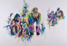 Katy Jade Dobson is a UK based oil painter from Yorkshire. Katy Jade Dobson uses a number of mediums to paint her amazing pieces. Gorillas In The Mist, British Wildlife, Indian Elephant, Animal Paintings, In This World, Art For Kids, Art Decor, Moose Art, Jade
