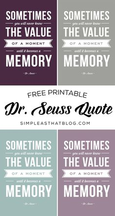 Printable Dr. Seuss Quote