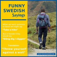 Funny Swedish Sayings. How to insult someone in Swedish.
