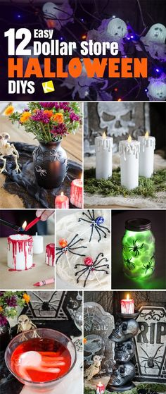 Generic Halloween decorations? BOO. I'm over it. Try these easy DIY decorations this Halloween. Nearly all the materials come right from the dollar store!