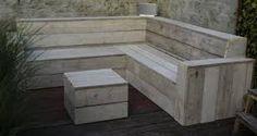 Bilderesultat for zelf steigerhouten hoekbank maken met opbergruimte