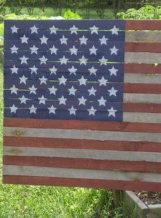 Americana 50 Star Wood Lath Flag by GrammyandGrampys on Etsy,
