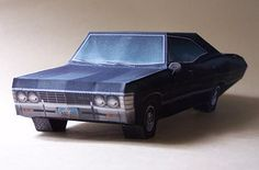 Oder wenn Dir das ein bisschen zu teuer ist, gibt's den Impala auch aus Papier: | 38 perfekte Geschenke für Serien-Fans