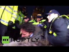 UK cops kick 'Occupy' protesters off Parliament Sq, Russell Brand delive...