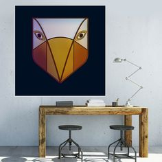Póster Mascara etnica ave