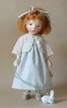 Girl In Light Blue Dress H334 by Elisabeth Pongratz