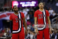 News Photo : John Wall and Otto Porter Jr. #22 of the...