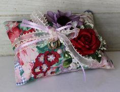 Wedding Ring Bearer Pillow  Cottage Chic  by ForeverDenimandLace, $32.00