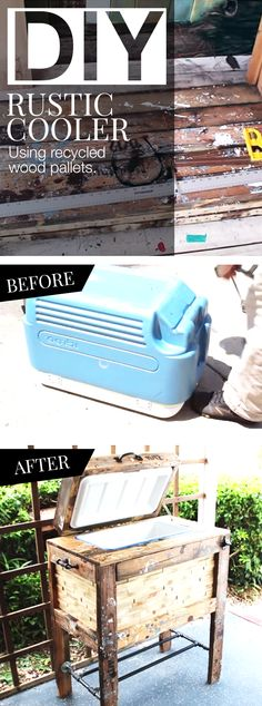 Backyard Ideas: Turn an old cooler into a rustic cooler with a stand. Your neighbors will all be jealous of this DIY cooler! See how this woman turned her old cooler into a rustic beauty that retails at more than $100 in this full video tutorial.