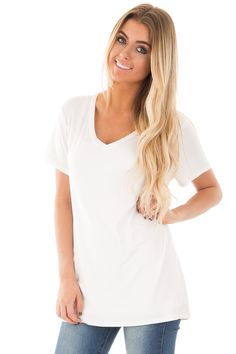 Lime Lush Boutique - Ivory Cap Sleeve V Neck Tee, $29.99 (https://www.limelush.com/ivory-cap-sleeve-v-neck-tee/)#fashion#spring#happy#photooftheday#followme#follow#cute#tagforlikes#beautiful#girl#like#selfie#picoftheday#summer#fun#smile#friends#like4like#pinterestfollowers