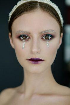 Silver tears  Muah by @bibidudu  Photo by @fotoface.pro Model @aln_sokolovskaya Jewerly @beretkah