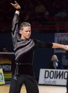 Bassano Open 2013 | World Junior II Latin Championships [diagonal mesh cutouts, 3/4 length sleeve on one arm]