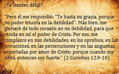 2 Corintios 12,9-10