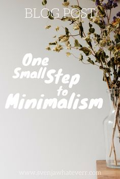 Read the story of this tiny #decluttering #process. #minimalism #simplify