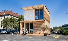 This modern, clean-cut home is constructed from a repurposed shipping container, and while I'm not entirely convinced that shipping containers are suitable for use as homes, this one (at least from the outside) seems like a rather cosy pad. See more at: http://humble-homes.com/commod-by-containme-a-repurposed-shipping-container/#sthash.OhJ6TuYX.dpuf