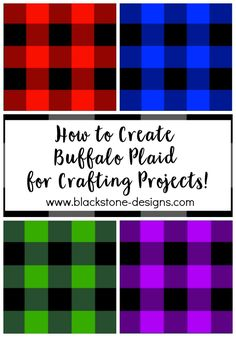 How to Create Buffalo Plaid for Crafting Projects free tutorial from Blackstone Designs  #crafting #howto #buffaloplaid #buffalocheck #plaidcrafts #buffaloplaidcrafts #ideas #craftideas #buffaloplaidideas #buffalocheckideas #crochet #crochetplaid #plaidcrochet #crochetbuffaloplaid