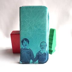 Stabo Your Children's Portrait On A Leather Phone Cover