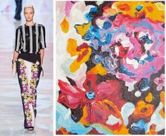 Splash Connect:- Etro Spring 2013 - Bright Floral Abstract Connection, Runway, Palette, Bright, Style Inspiration, Inspired, Abstract, Spring, Floral