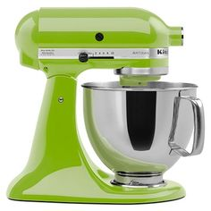 I love my green apple Kitchen Aid mixer! It is the best appliance in my kitchen!