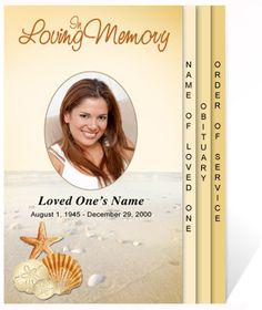 217 Best Creative Memorials With Funeral Program Templates
