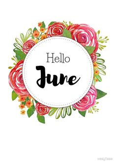 Hello June - monthly cover for planners, bullet journals by vasylissa