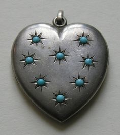 Heart with Turquoise Stars.