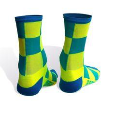Two Tone Siren Hi-Viz Socks | Elevengear Cycling