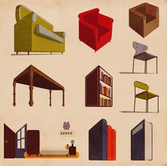 Stuff for Infographics and Maps by Giordano Poloni, via Behance
