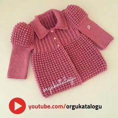"""Baby Cardigan Thousands Of - - Diy Crafts - maallure Cardigan Bebe, Knitted Baby Cardigan, Baby Pullover, Baby Cardigan Knitting Pattern Free, Baby Girl Vest, Baby Girl Bows, Girls Sweaters, Baby Sweaters, Kids Poncho"