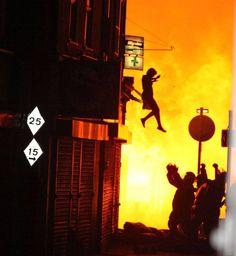 apartment fire - amazing photograph