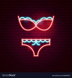 Underwear neon sign vector image on VectorStock Pop Art Wallpaper, Iphone Wallpaper, Sparkle Wallpaper, Neon Design, Graphic Design, Logo Design, Neon Lights Party, Neon Symbol, Chanel Wallpapers