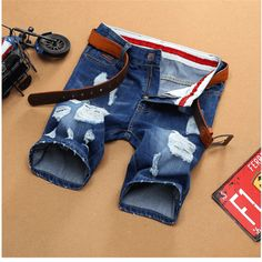 Casual Ripped DestroyKnee Length Jeans Men Shorts //Price: $41.11 & FREE Shipping //     #sale