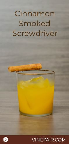 The Cinnamon-Smoked Screwdriver Recipe Smoked Cocktails, Cocktail Recipes, Drink Recipes, Winter Cocktails, Craft Cocktails, Slice Of Lime, Mouth Watering Food, Brunch Menu, Margaritas