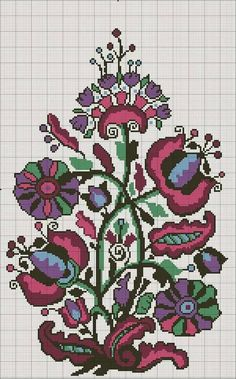 This Pin was discovered by Neş Cross Stitch Tree, Cross Stitch Borders, Cross Stitch Flowers, Modern Cross Stitch, Cross Stitch Kits, Cross Stitch Designs, Cross Stitching, Cross Stitch Patterns, Folk Embroidery