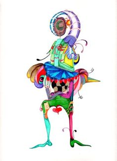"""Owner"" original mix-media illustration from artist Marina Sciascia (USA)"