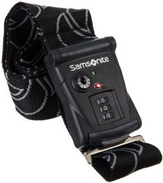 Samsonite Luggage Travel Sentry 3 Dial Combination Strap, Black, One Size Samsonite. $15.54