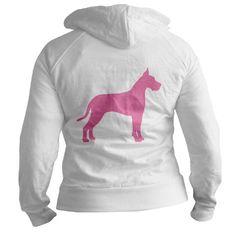 Pink Great Dane Hoodie