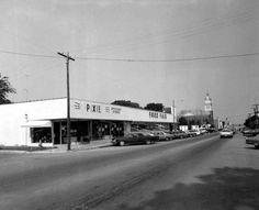 1972 Pixie discount store and the Food Fair grocery store - Fernandina Beach, Florida. Now Bonito's and antique store