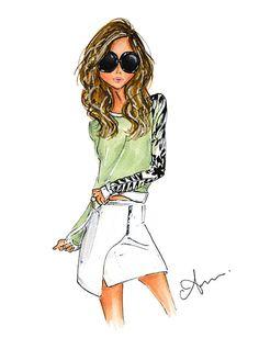 Fashion Illustration Print Summer Vibes por anumt en Etsy