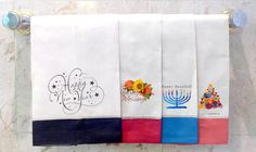 Create your own personal design Holiday Guest Towel. OurColor Border  Hemstitch White or Hemstitch Beige Guest  Towel are 100% Linen.  Make your HOLIDAY GIFT UNIQUE.